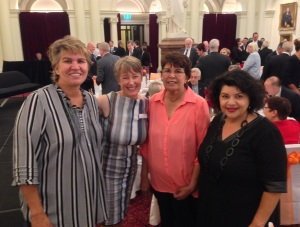 With my long-time friend Kerrynne Liddle, Australian Unity's Kimina Lyall, and Jeannie Liddle at the Great Australia Day Breakfast.